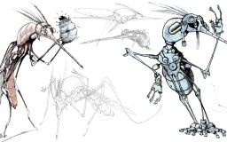 Salsa Invertebraxa - Early Pestle sketches