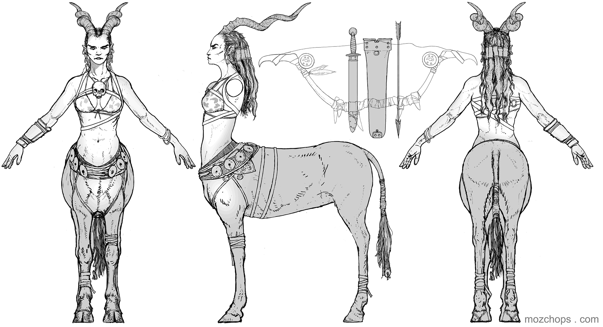 centaur-tpose-orthographic-by-mozchops