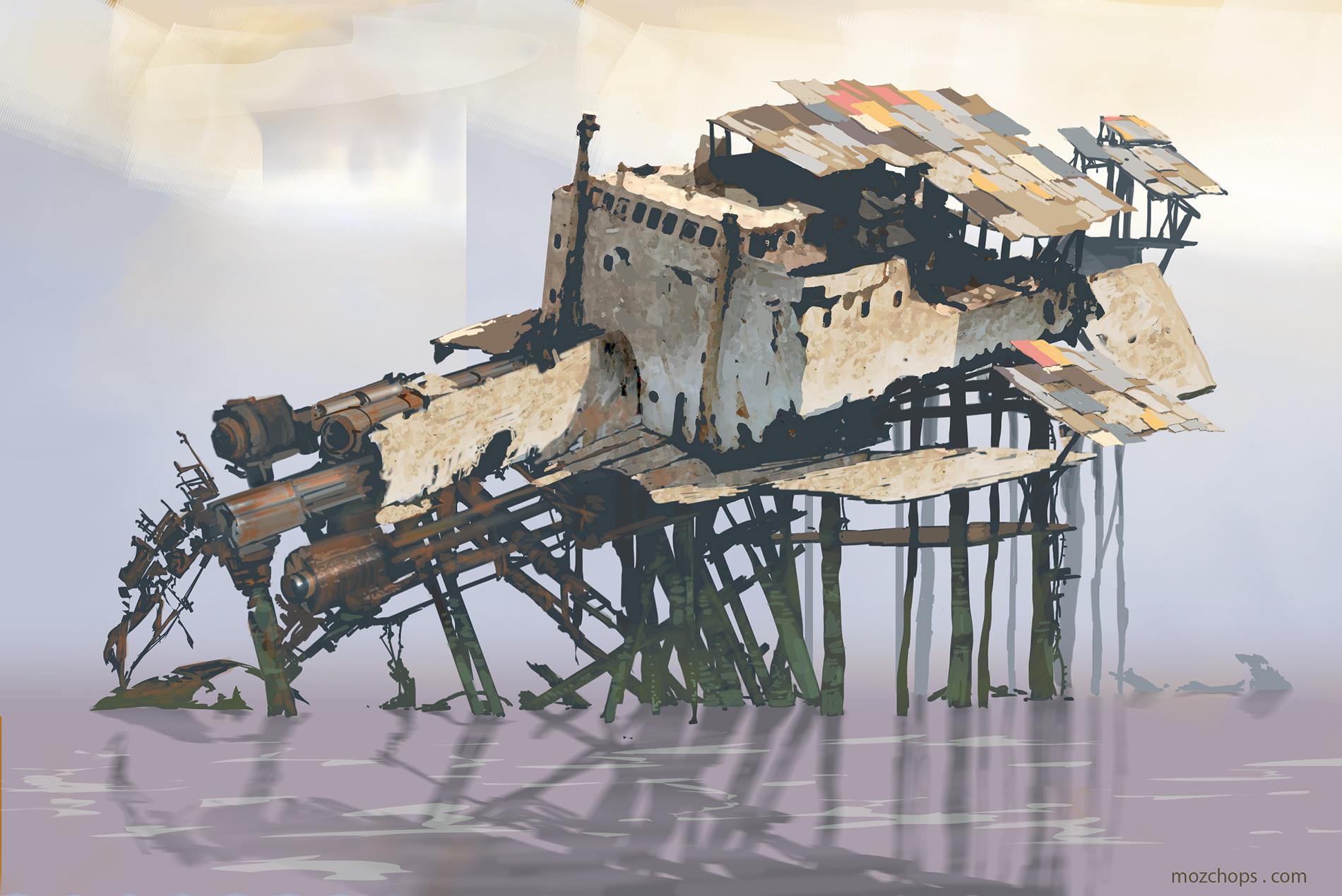 Junk shanty 01 by Mozchops