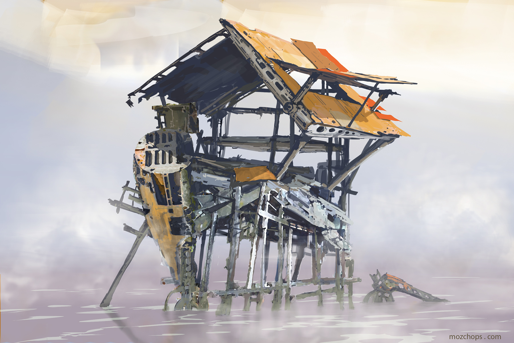 Junk shanty 02 by Mozchops