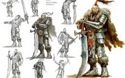 Kente the War Counselor - sketches