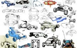 Re-volt Cars - sketches 01