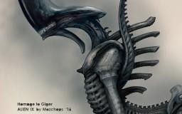 Alien IX, Homage to Giger