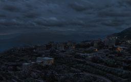 Hillside at Night by Mozchops