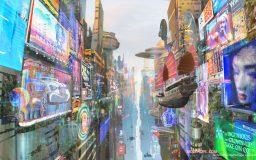 Hong Kong skyline 2072 by Mozchops